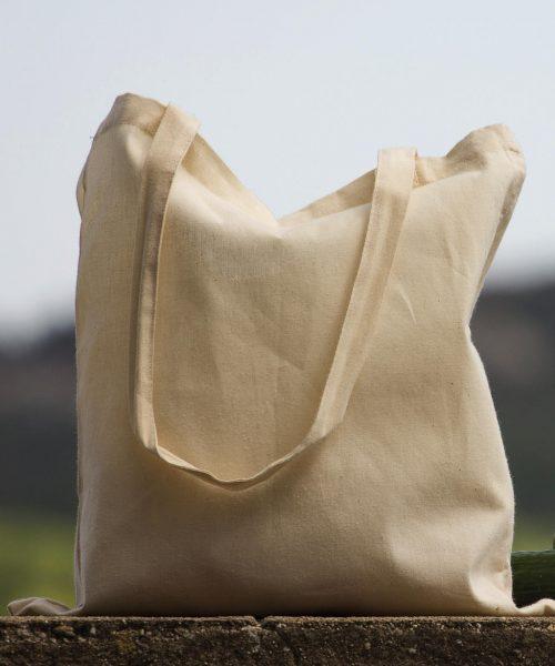 Bio-Baumwoll-Tasche lange Henkel