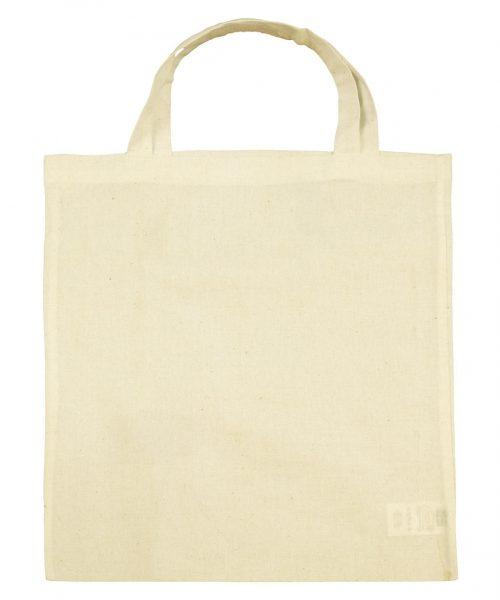 Bio-Baumwoll-Tasche kurze Henkel