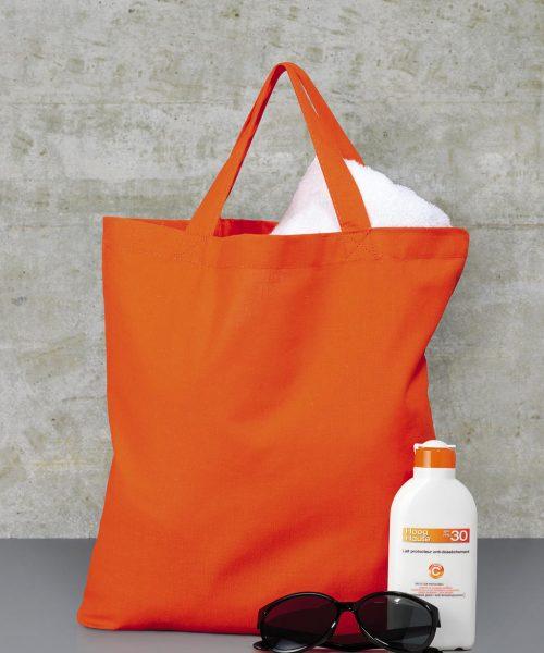 Baumwoll-Tasche kurze Henkel