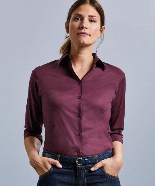 Bluse 3/4 Arm Easy Care Fitted