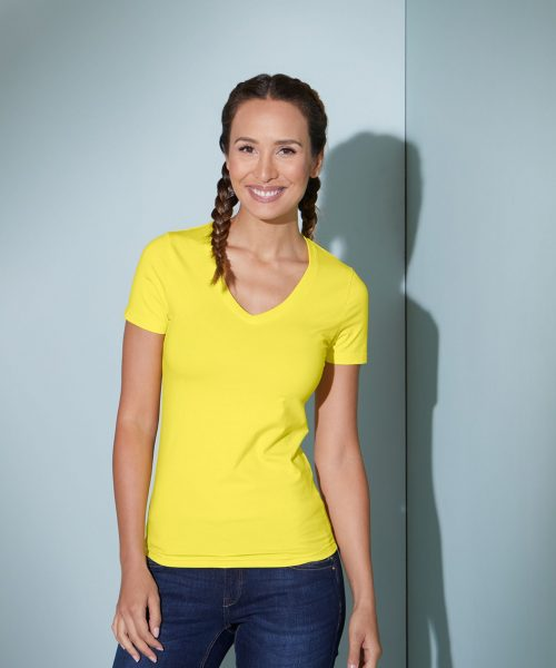Damen T-Shirt V-Ausschnitt JN004
