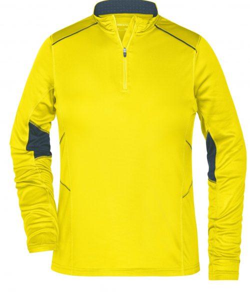 Damen Running Shirt Half Zip JN473