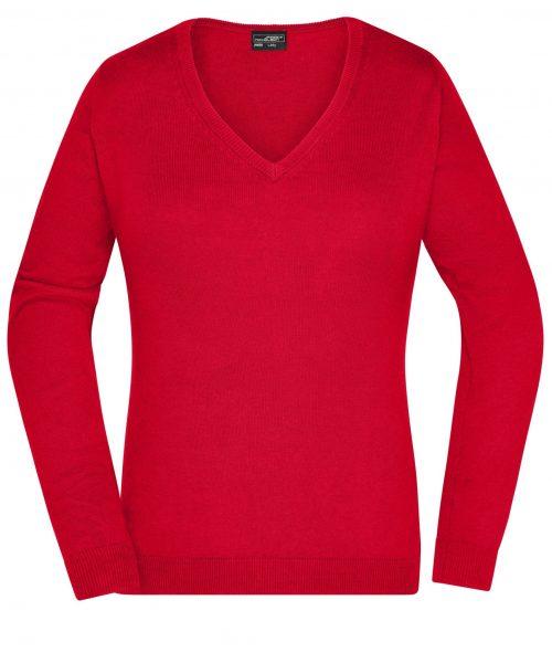 Damen V-Neck Pullover