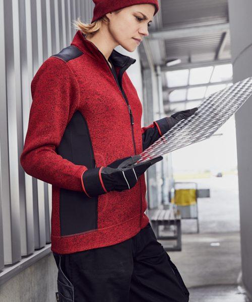 Workwear Damen Knitted Fleecejacke JN861