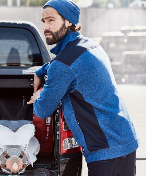 Workwear Herren Knitted Fleecejacke JN862